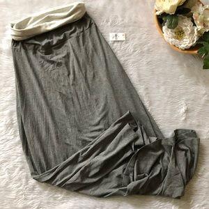 Gap Grey Maxi Knit Skirt